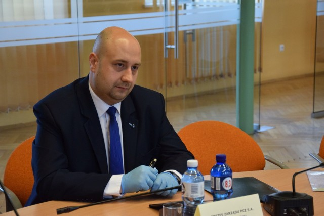 Marcin Kisilica, były już prezes Powiatowego Centrum Zdrowia w Kluczborku