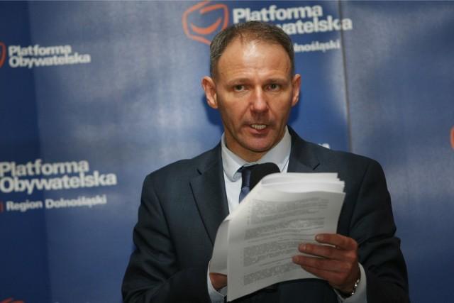 Jacek Protasiewicz, przewodniczący PO na Dolnym Śląsku