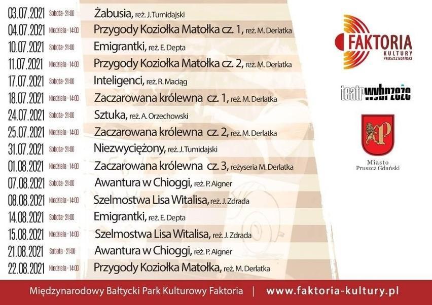 Faktoria Kultury 2021 w Pruszczu Gdańskim. Zobacz repertuar Sceny Letniej oraz Sceny Dziecięcej Teatru Wybrzeże