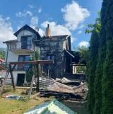 Trwa zbiórka na odbudowę spalonego domu przy ul. Wczasowej w Brodnicy. Dom najprawdopodobniej został podpalony. Zobaczcie zdjęcia