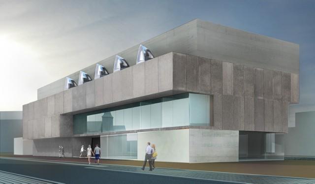 Wizualizacja nowego budynku archiwum