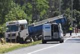 Śmiertelny wypadek na krajowej trójce w Lubinie [ZDJĘCIA]