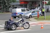Wypadek przy Orlenie w Tarnobrzegu. W zderzeniu samochodu z motocyklem ranny motocyklista (ZDJĘCIA)