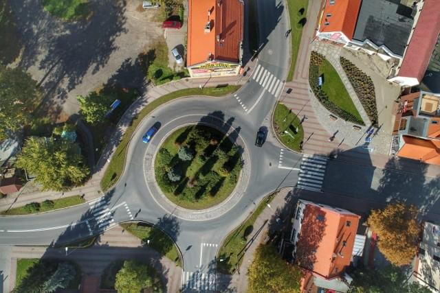 Strzelce Krajeńskie - zdjęcie z drona wykonane przez Grzegorza Walkowskiego