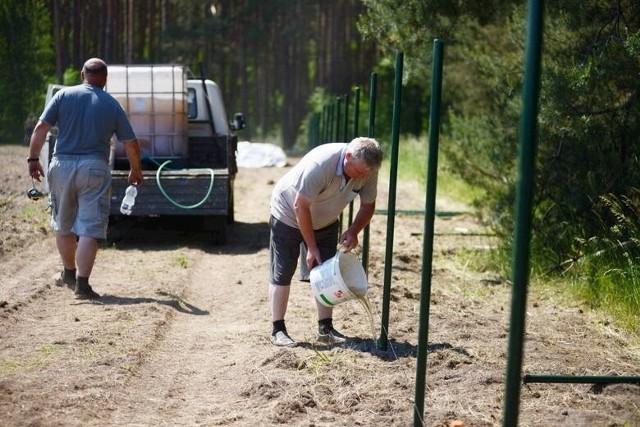 Prace przygotowawcze na Srebrnej Polanie
