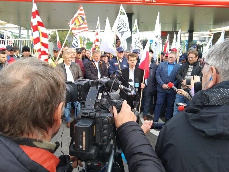 Protest AgroUnii we Włocławku. Wysokie cny nawozów są...