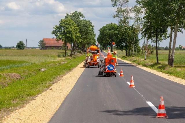 Droga 462 Łubniany - Brynica po remoncie.