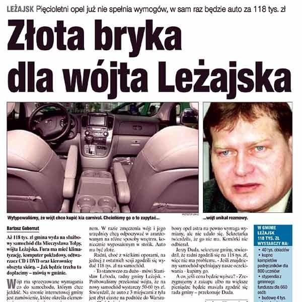 Mieliśmy rację pisząc o wymarzonym aucie dla wójta Leżajska. Taki samochód zaoferował tylko dealer marki Kia.