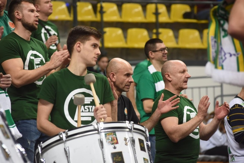 Kibice Enei Zastalu BC Zielona Góra.