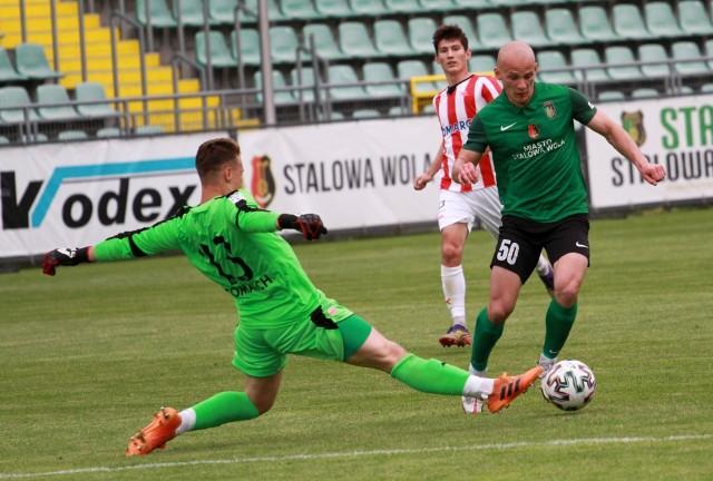 Aleksander Drobot strzelił w meczu z rezerwami ekstraklasowej Cracovii dwa gole, czym przyczynił się do zdobycia punktu przez Stal Stalową Wolę