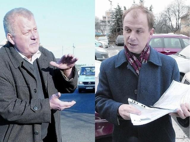 Wojciech Pawlik, właściciel San Budu (z lewej) i wiceprezydent Krzysztof Kaliszuk mają odmienne zdania o jakości wykonanego remontu (fot. Mariusz Kapała, Paweł Janczaruk)