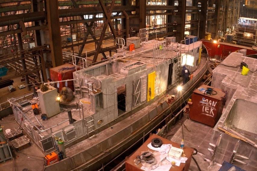Nowe lodołamacze będą służyć na Wiśle. Dwie jednostki powstają w szczecińskiej stoczni
