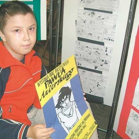Dla Pawła Azierskiego komiksy są ucieczką od rzeczywistości i radością. - Cieszę się, że teraz mogą je zobaczyć inni - mówi chłopak.