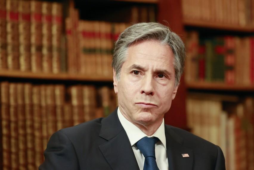 Minister Zbigniew Rau i sekretarz stanu USA Antony Blinken...