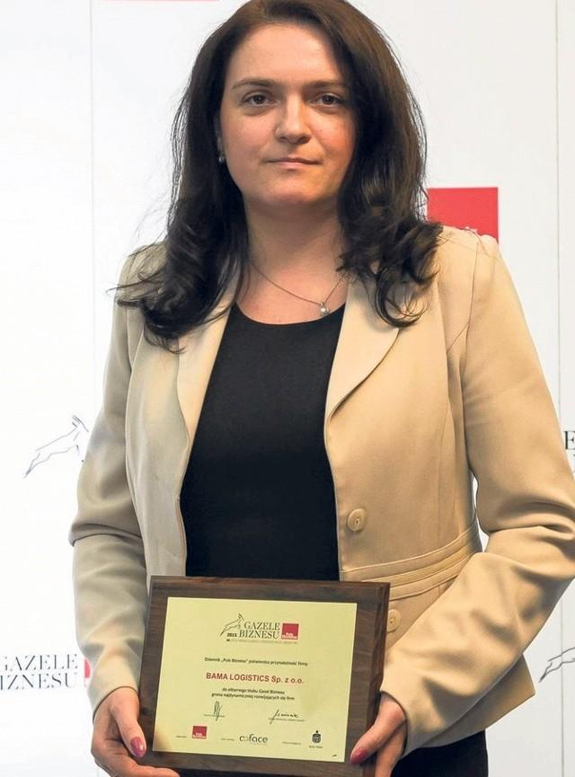 O rosnącej pozycji Bama Logistics świadczą liczne nagrody, które odebrała prezes firmy Agnieszka Drozd