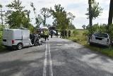 Wypadek w miejscowości Piastoszyn w gm. Kęsowo. 2 dzieci śmigłowiec zabrał do szpitala