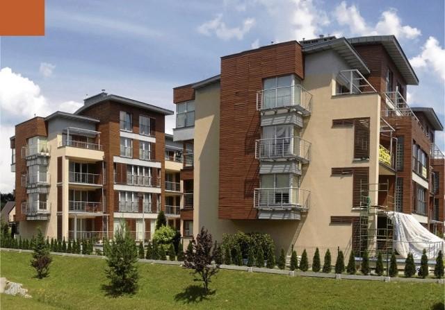 """Osiedle """"Zeta-Park""""w Ustroniu wyróżnia ciekawa architektura."""