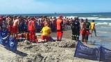 Łeba. Akcja ratownicza na morzu. Utonęła jedna osoba [ZDJĘCIA]