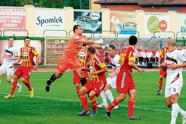 Czyste konto bramkow, jakie zachowała drużyna w meczu z Dolcanem, to także olbrzymia zasługa Rafała Misztala, który imponował interwencjami na przedpolu i w linii.