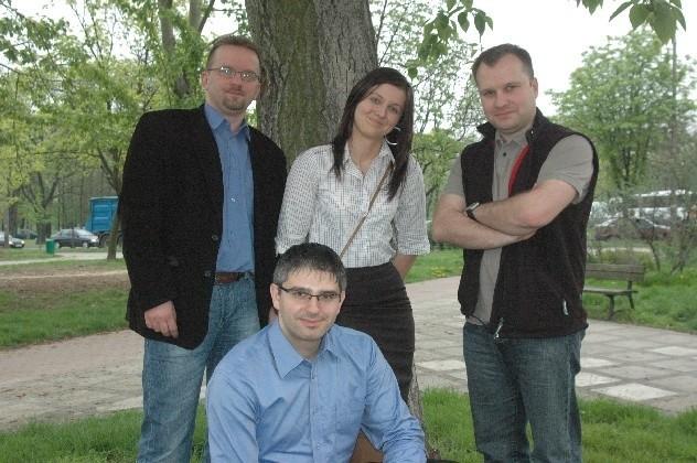 Uczestnicy wyprawy: Arkadiusz Kotliński, Katarzyna Mermer, Sebastian Horny i Dariusz Zając.