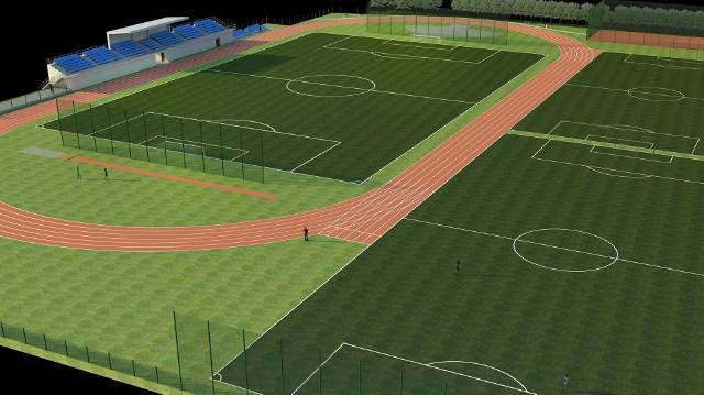 Tak po modernizacji i rozbudowie będzie wyglądać stadion miejski w Oleśnie.