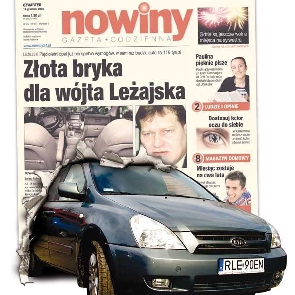 Nowa Kia stoi już przed urzędem  w Leżajsku.