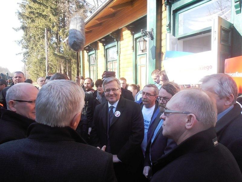 Prezydent Bronisław Komorowski przyjechał w poniedziałek do...