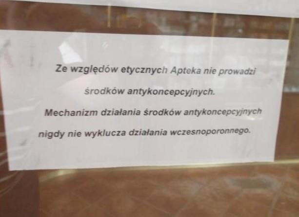Ruch Kobiet z Martą Marską-Błahy na czele złożył w poniedziałek w Wojewódzkim Inspektoracie Farmaceutycznym pismo z prośbą o sprawdzenie apteki w Maszewie.
