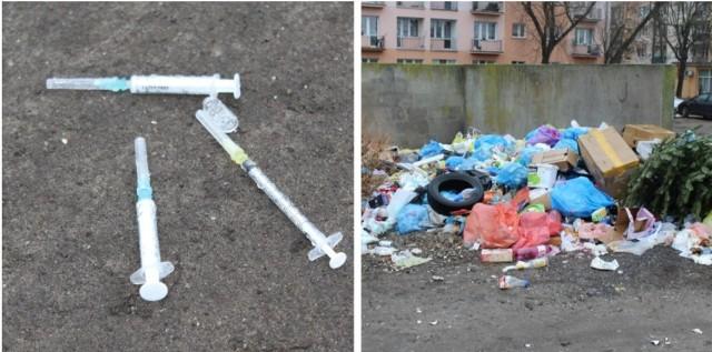 Zużyte strzykawki, igły, opony, resztki jedzenia, butelki - takie odpady znaleźli nasi reporterzy na dzikim wysypisku śmieci za nowym budynkiem TBS-u w Łęczycy.CZYTAJ DALEJ NA NASTĘPNYM SLAJDZIE