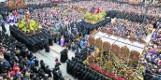 Hiszpania. Matka Boża i św. Jan spotykają się w Leon