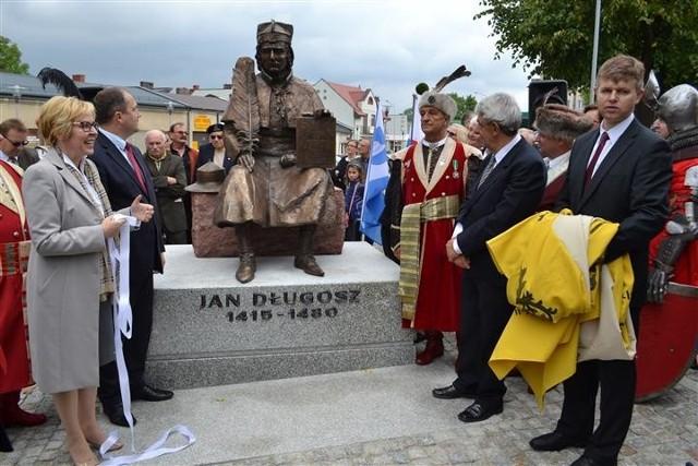 Odsłonięcie pomnika Jana Długosza w Kłobucku