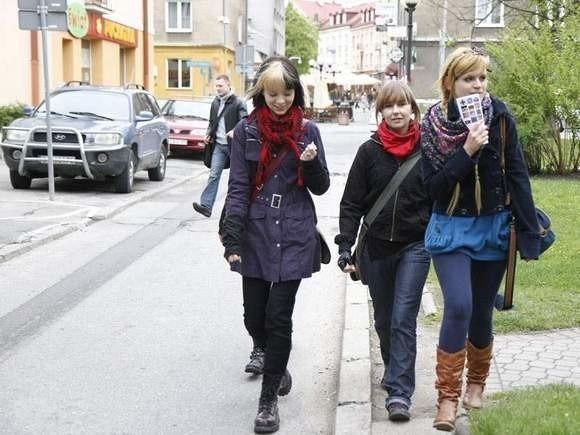 Tak bawiły się studentki podczas majowej gry miejskiej