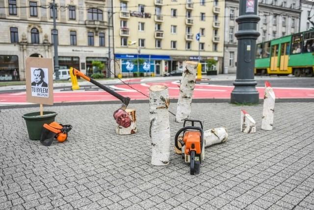 Stop wycince - protest w Poznaniu
