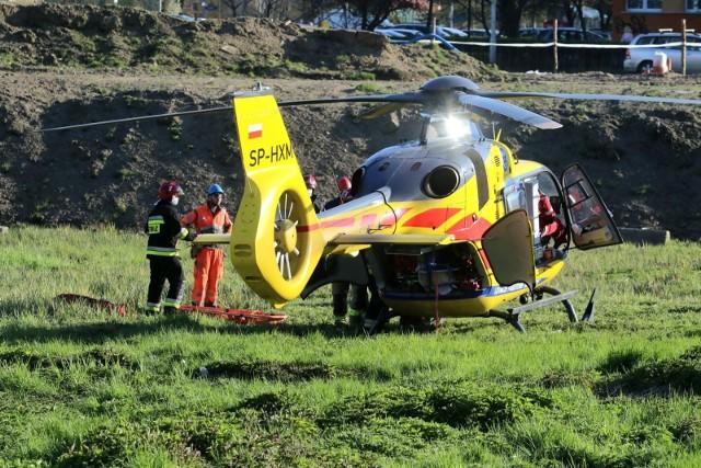Śmigłowiec ratunkowy został uziemiony po zderzeniu z ptakiem