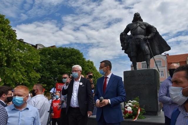 Premier Mateusz Morawiecki w Wejherowie, 21.06.2020 r.