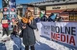 """Protest w obronie wolnych mediów w Gdańsku 13.02.2021 r. """"Media muszą być niezależne od władzy, od każdej władzy"""""""