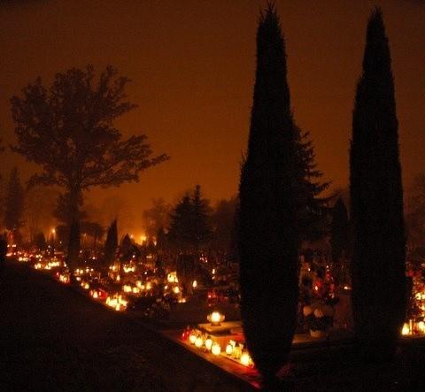 W listopadową noc przylatują dusze z tamtego świata. Ploną ogniami świec ludzkiej pamieci. Zyją wśród nas bedąc w wieczności.
