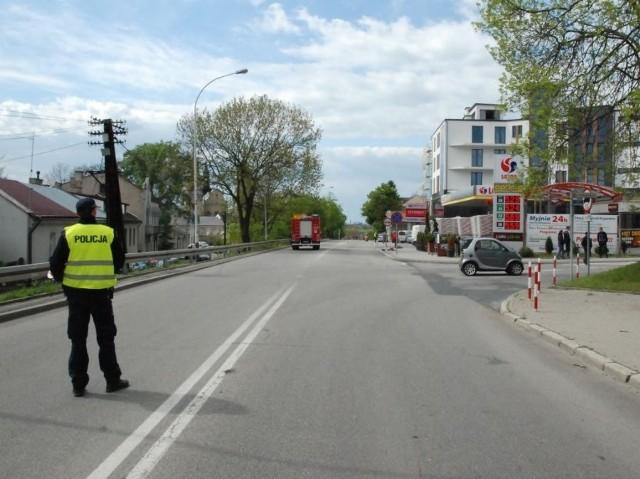 Do wypadku doszło na ul. Jana Pawła II w Jarosławiu.