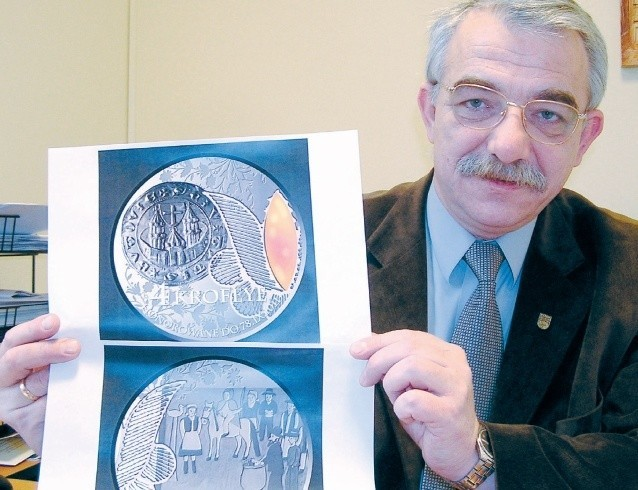 Andrzej Hrycyna z projektem krofeya.