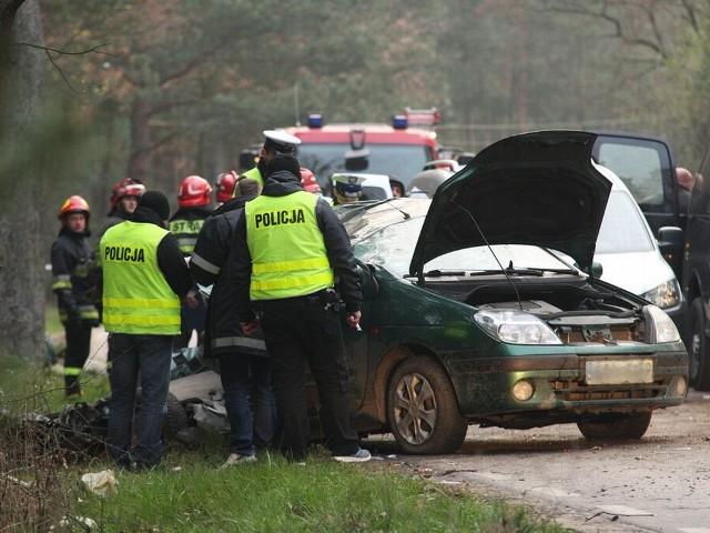Wypadek w Klamrach.