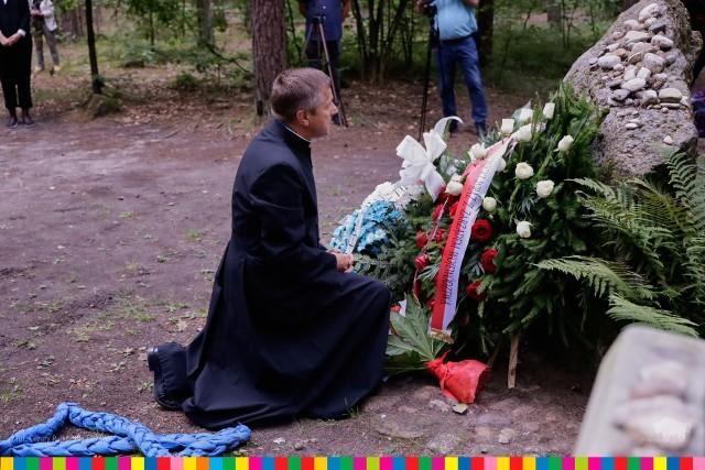 Tykocin. Las Łopuchowski. 79. rocznica zagłady Żydów tykocińskich