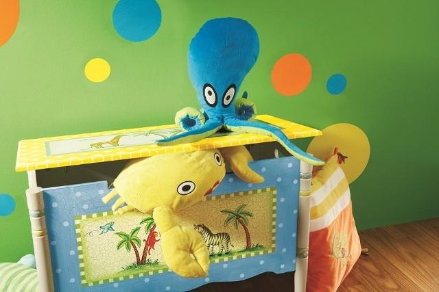 Skrzynia na zabawki idealna do pokoju małego dziecka