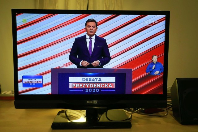06.05.2020 warszawa telewizyjna debata prezydencka w tvpn/z fot. adam jankowski / polska press