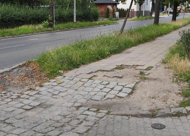 Piesi proszą o remont ul. Krzyckiej
