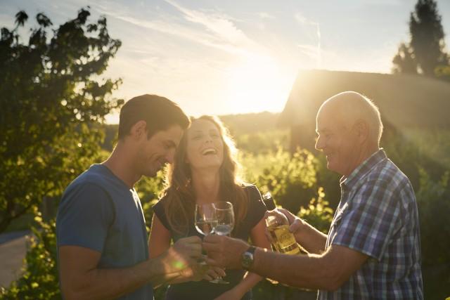 Kosztowanie wina w Csarterberg.