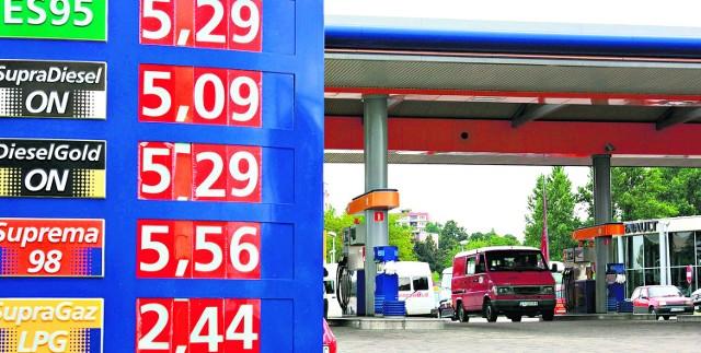 Cena paliw na stacjach