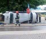 Wypadek na skrzyżowaniu w Kowali. Trzy osoby trafiły do szpitala