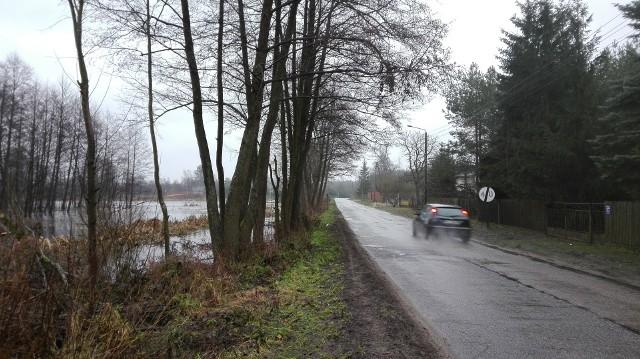 Tak wyglądała droga w Białobrzegu Dalszym