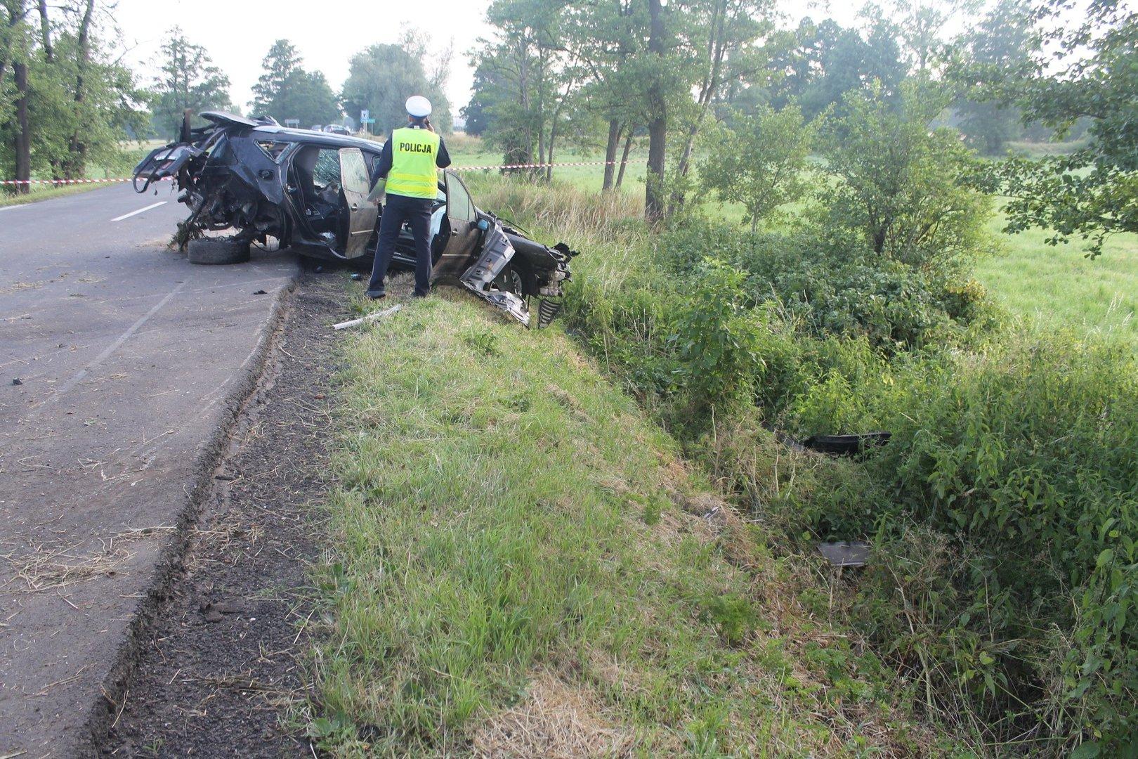 śmiertelny Wypadek Pod Zgierzem Zginął Młody Kierowca