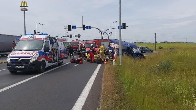 Na obwodnicy Nakła doszło do poważnego wypadku.